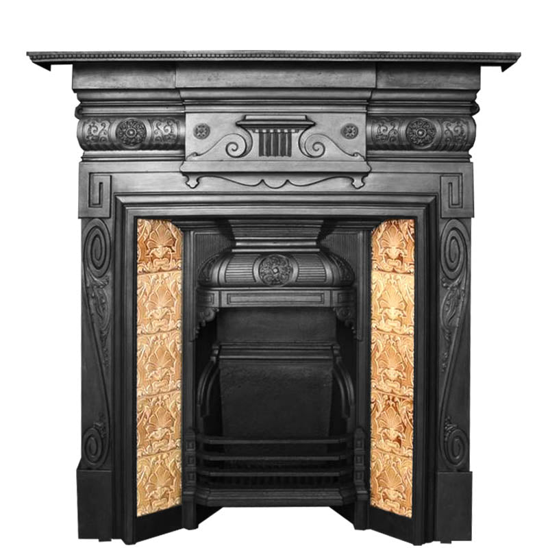 Antique Victorian Tiled Combination Fireplace | The Architectural Forum