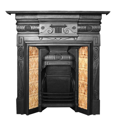 Antique Victorian Tiled Fireplace - The Architectural Forum