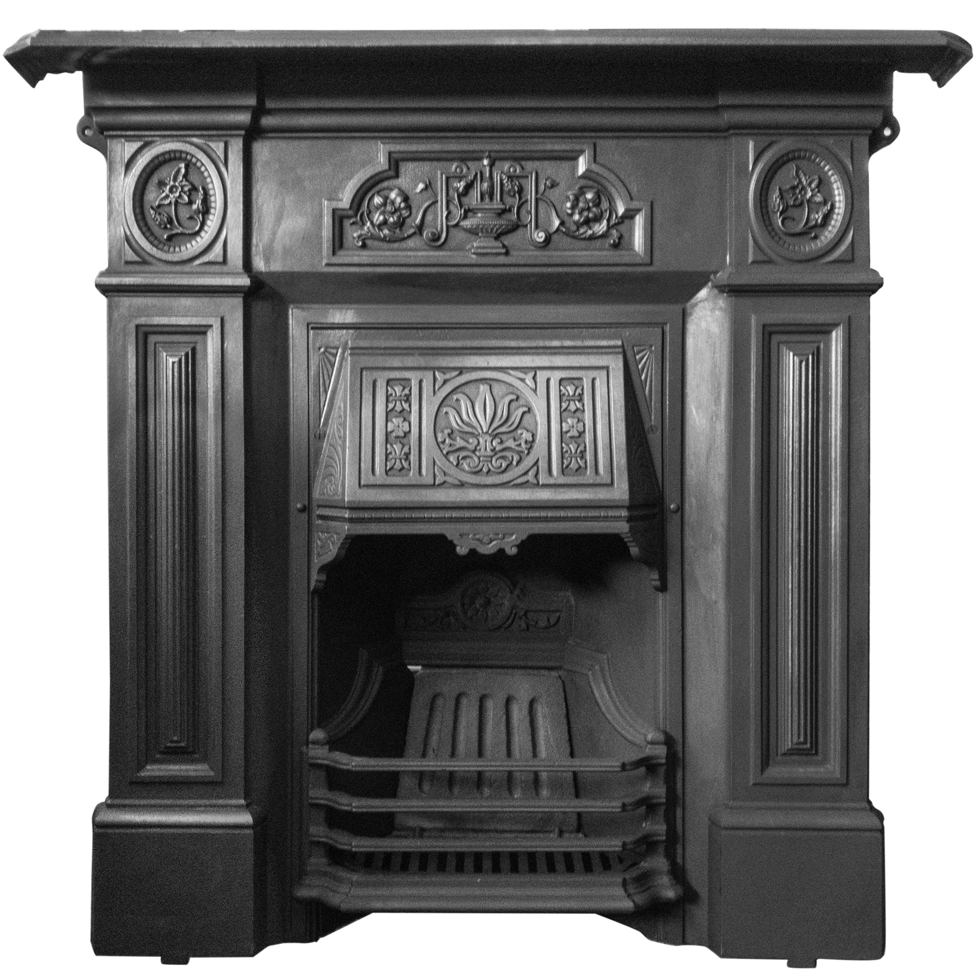 Antique Cast Iron Combination Fireplace | The Architectural Forum