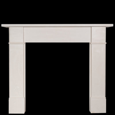 Victorian Style Crema Marfil Fireplace Surround