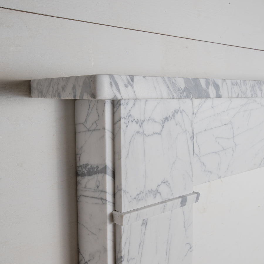Georgian Style English Pencil Vein Marble Fireplace Surround