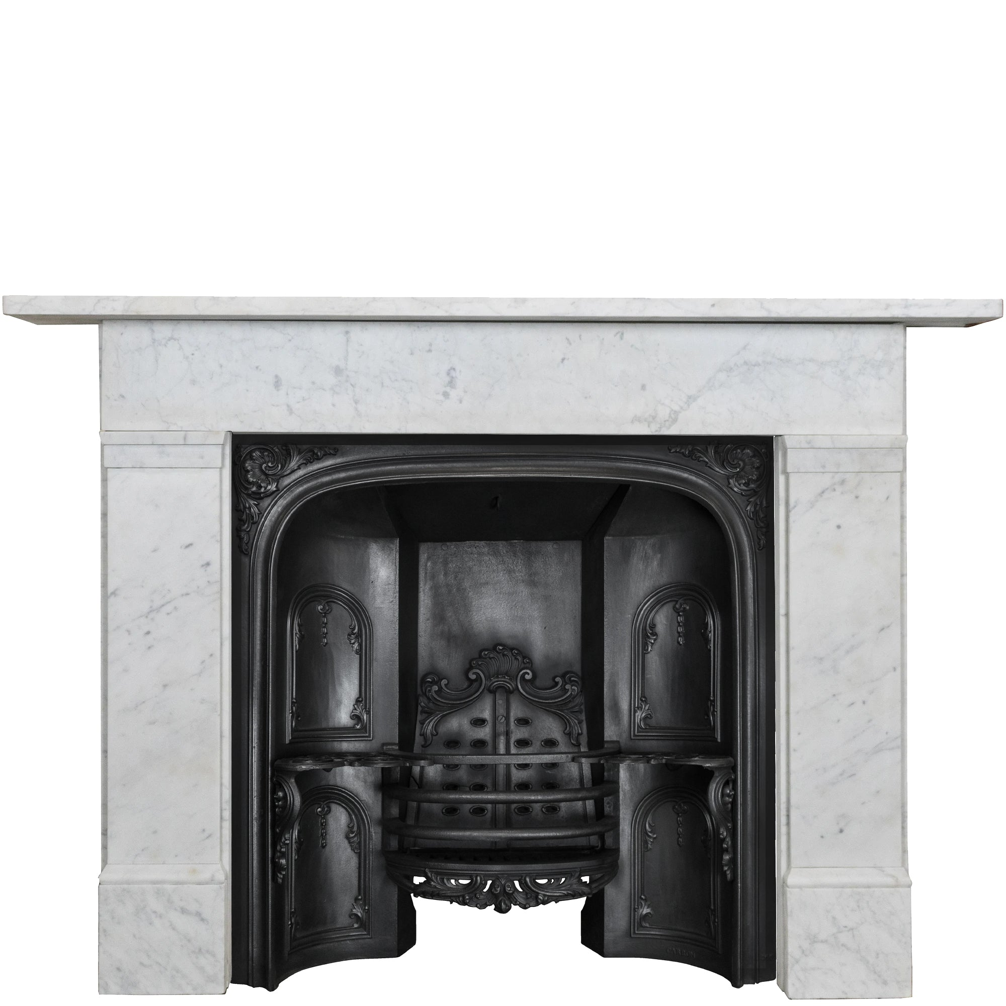 Reclaimed Late Georgian Style Carrara Marble Fireplace Surround