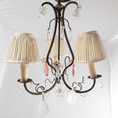 Antique French Crystal Chandelier (pair available) - The Architectural Forum