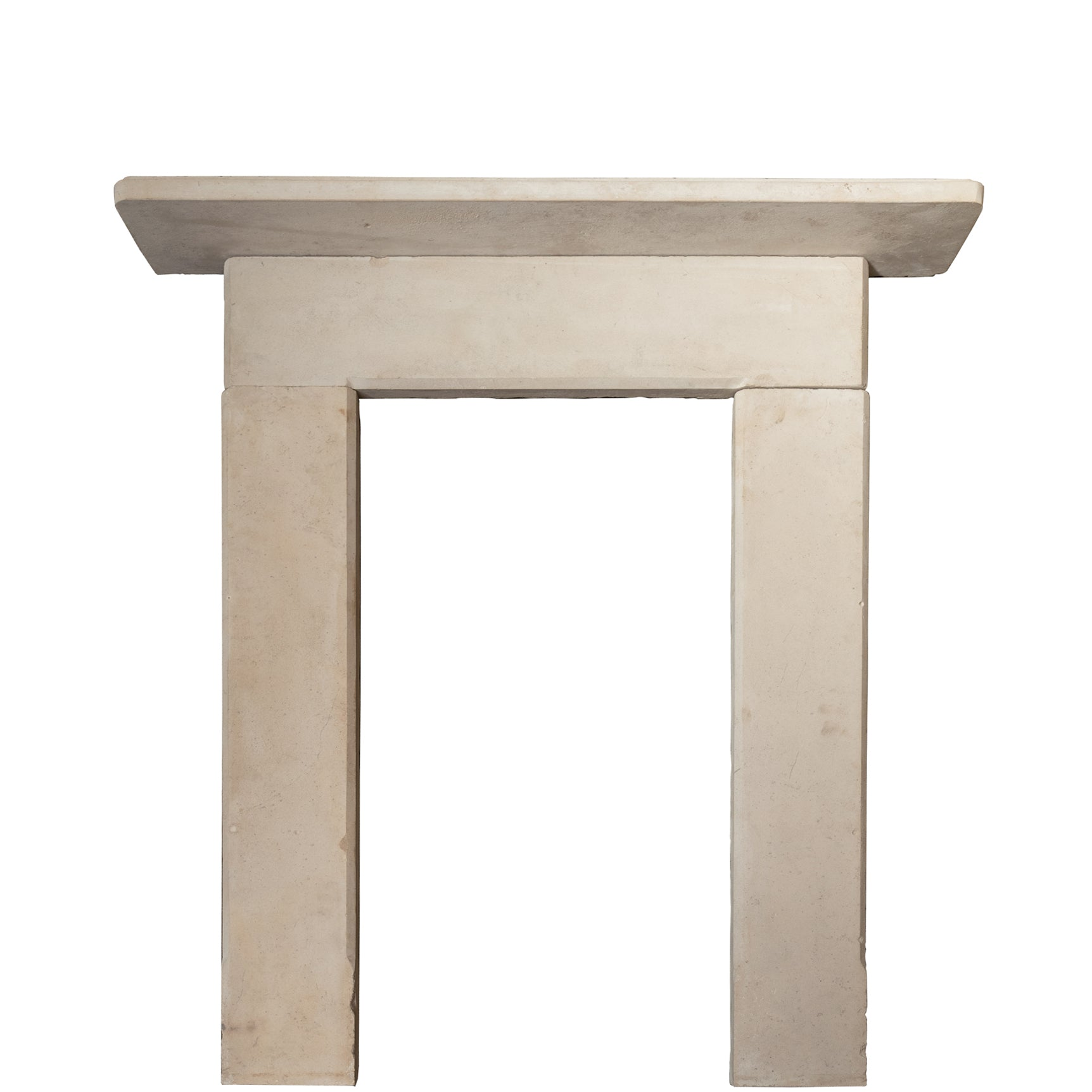 Mid 19th Century Limestone Fireplace Surround - architectural-forum