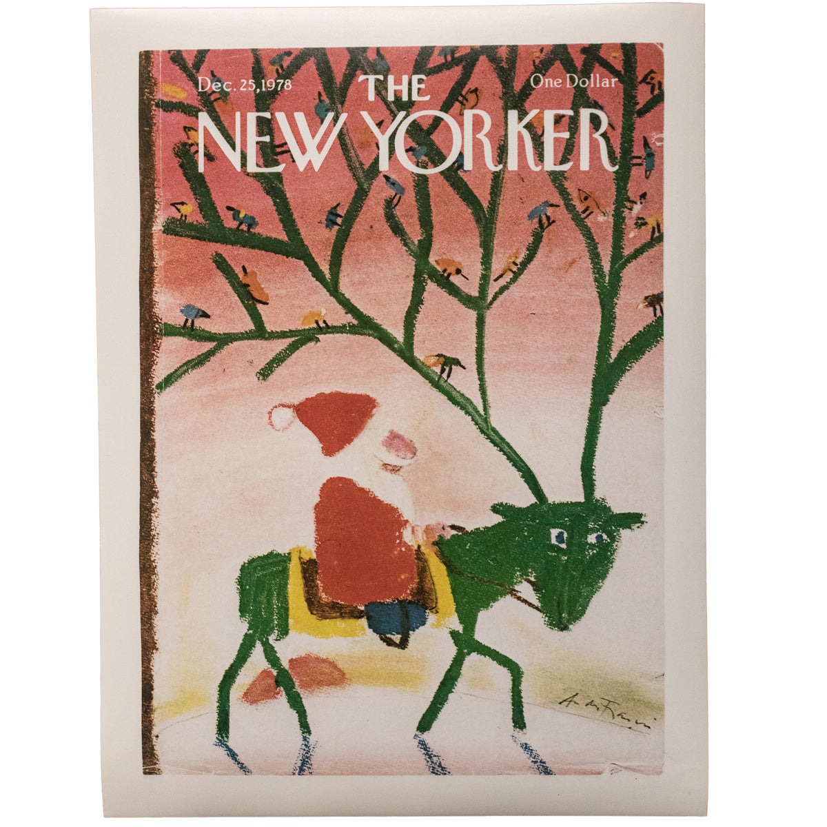 The New Yorker Xmas Cover Print December 1978 | The Architectural Forum