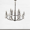 Chrome and Cut Glass Chandelier - The Architectural Forum
