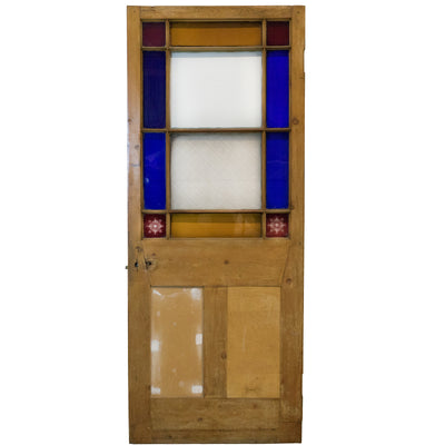 Reclaimed Antique Victorian glazed Door 202cm x 80.5cm