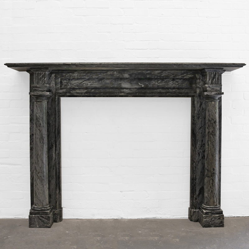 Antique Georgian Bardiglio Marble Chimneypiece