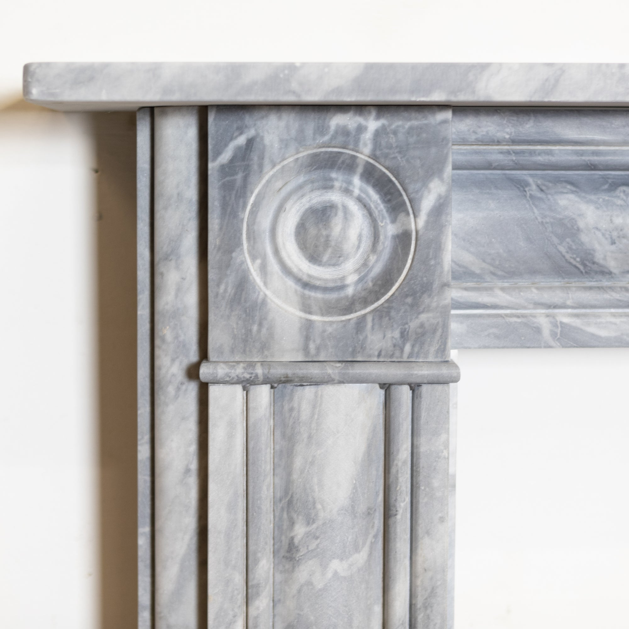 Georgian Style Dove Grey Marble Chimneypiece with Roundels | The Architectural Forum