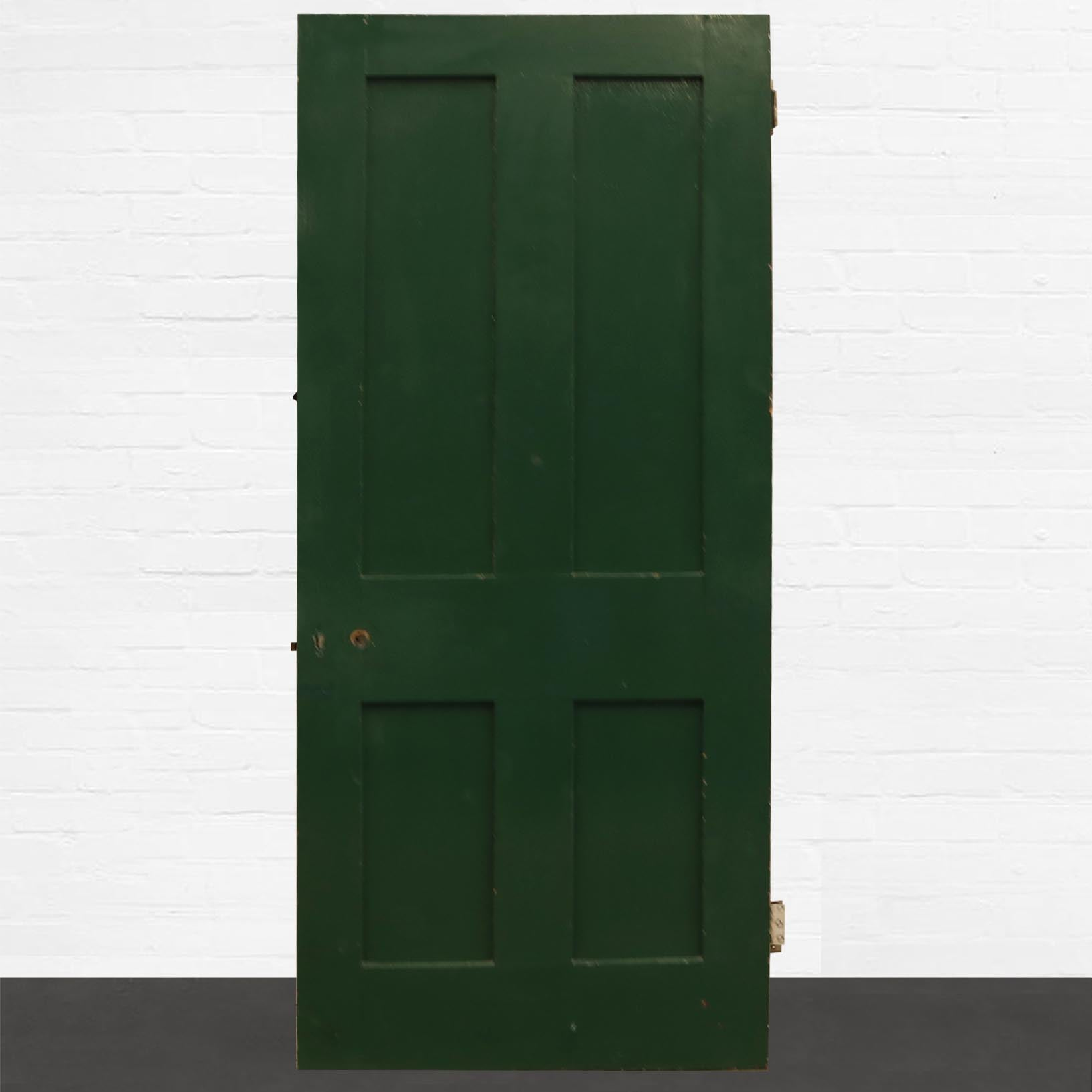 Reclaimed Solid Pine Four Panel Door - 196cm x 74cm - architectural-forum