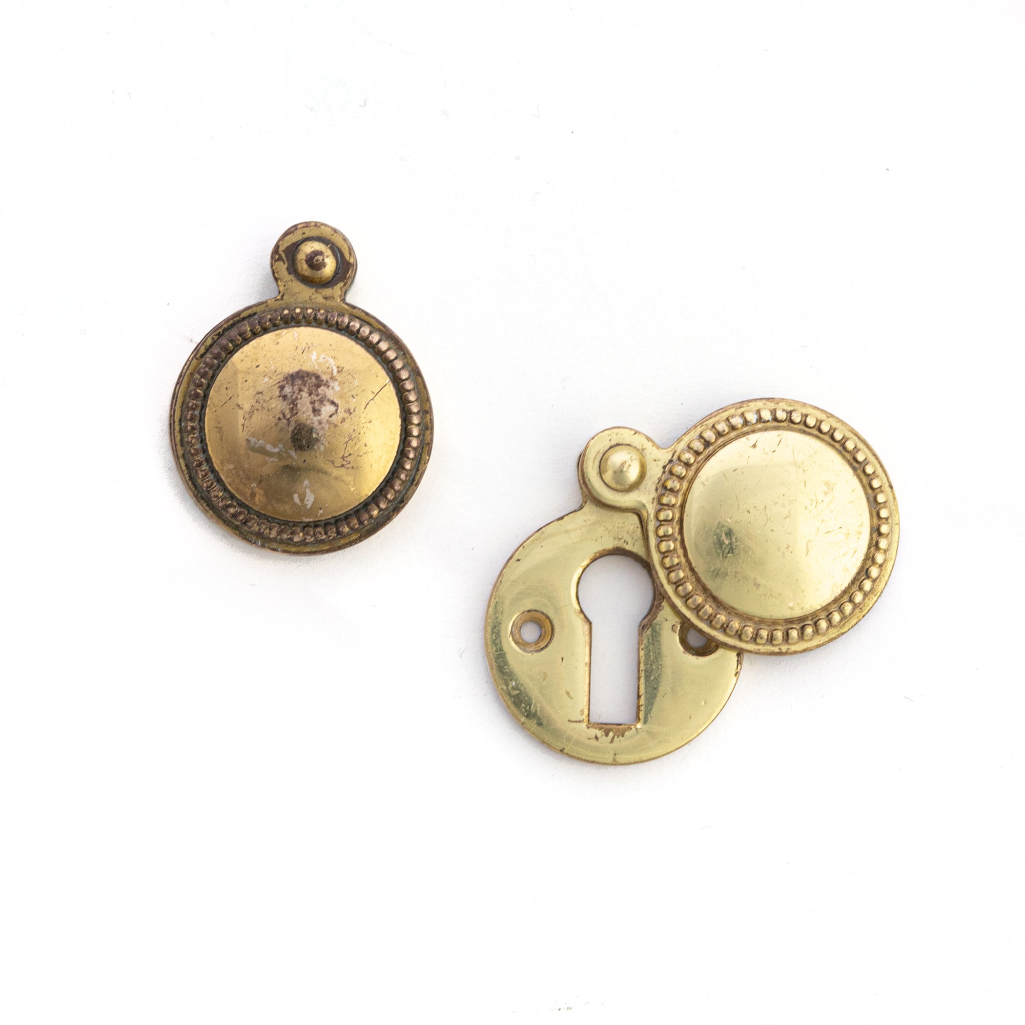 Reclaimed Solid Brass Beaded Escutcheons | The Architectural Forum