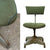 Vintage Green 1950's Industrial Swivel Office Chair - architectural-forum