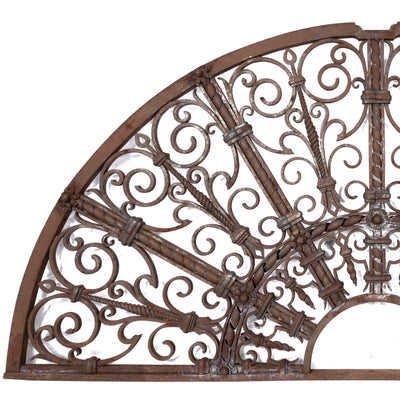 Antique 19th Century Ornate Wrought Iron Fanlight - The Architectural Forum