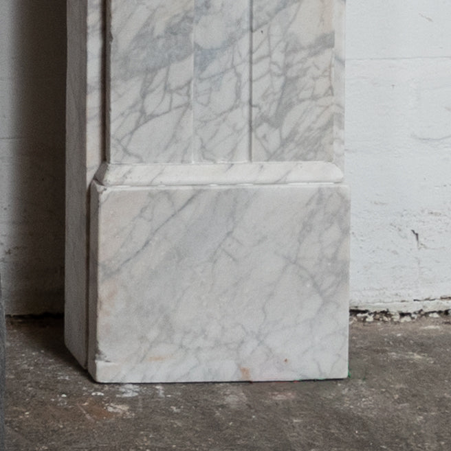 Antique Victorian Carrara Marble Corbel Surround