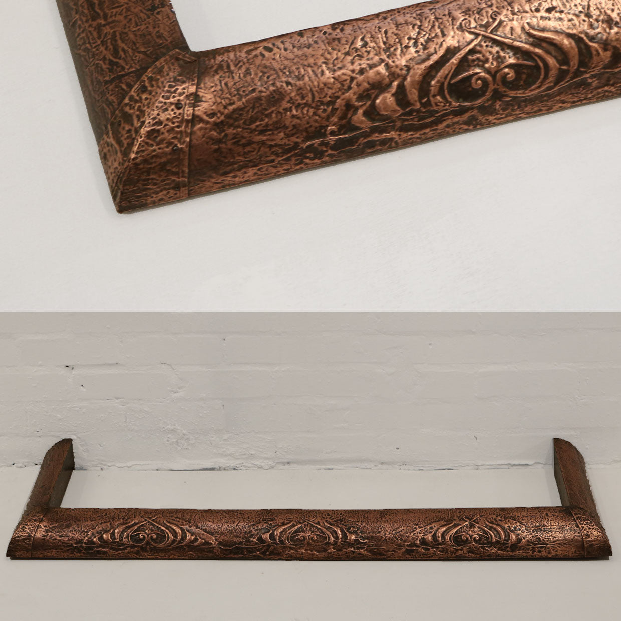 Copper Art Nouveau Fireplace Fender - architectural-forum