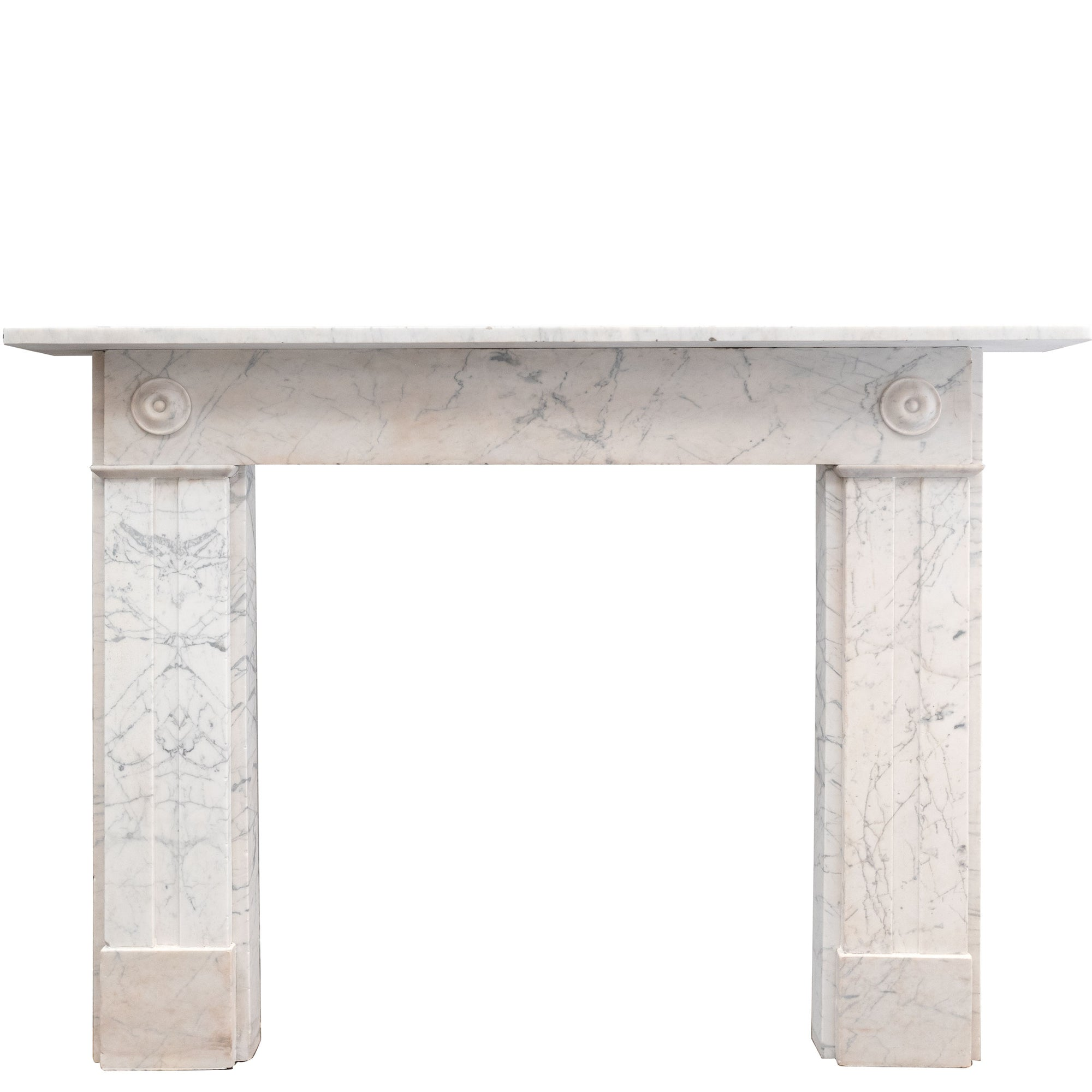 Antique Georgian Carrara Bullseye Fireplace Surround - The Architectural Forum