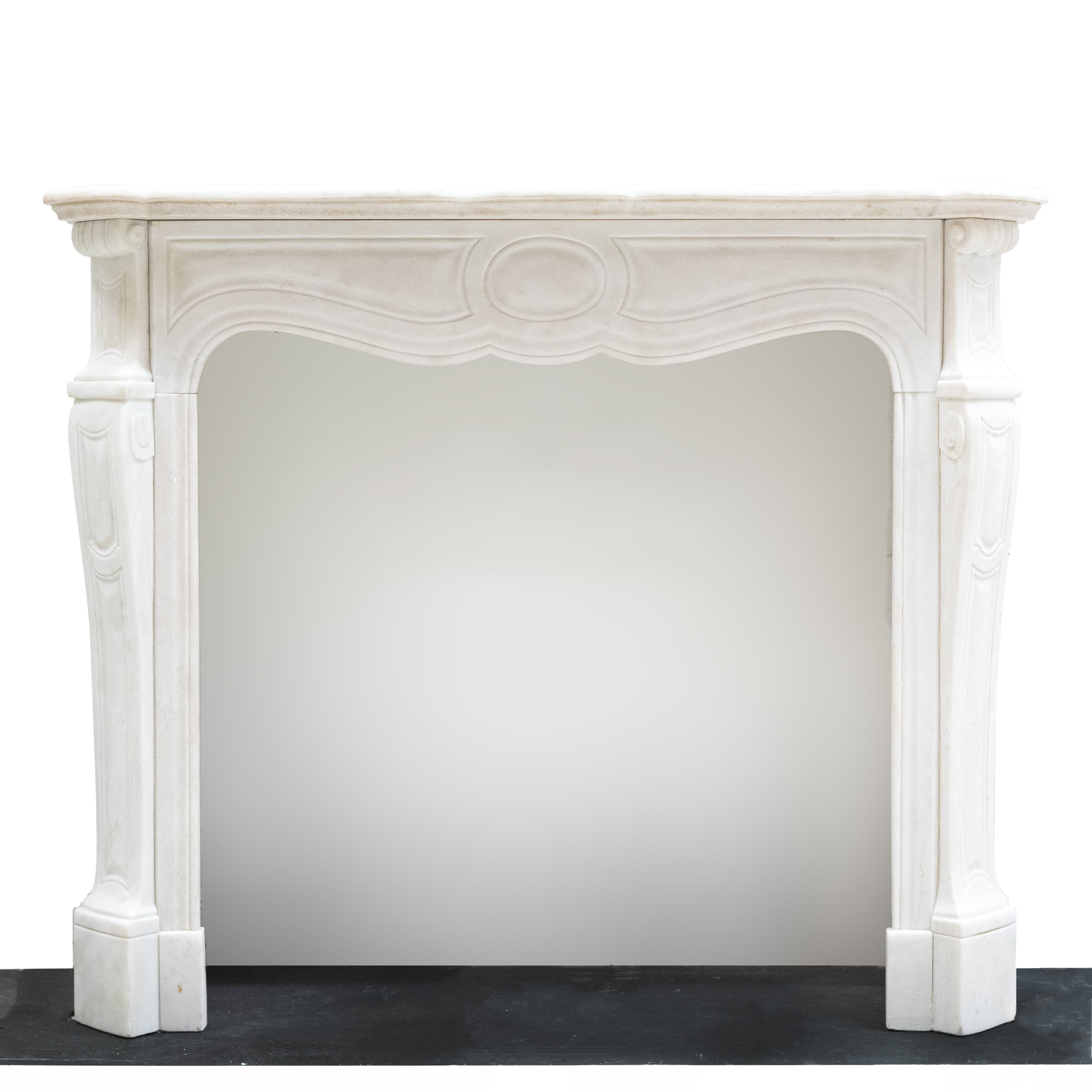Antique Victorian French Style Marble Fireplace