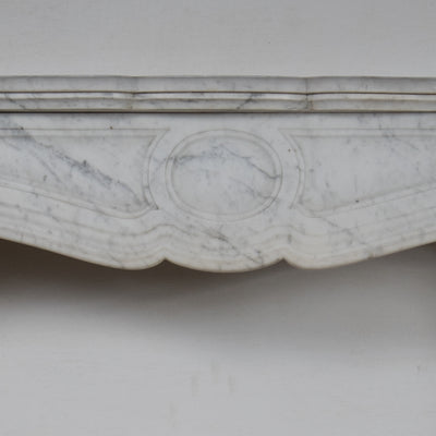 Antique Louis Carrara Marble Fireplace Surround - The Architectural Forum