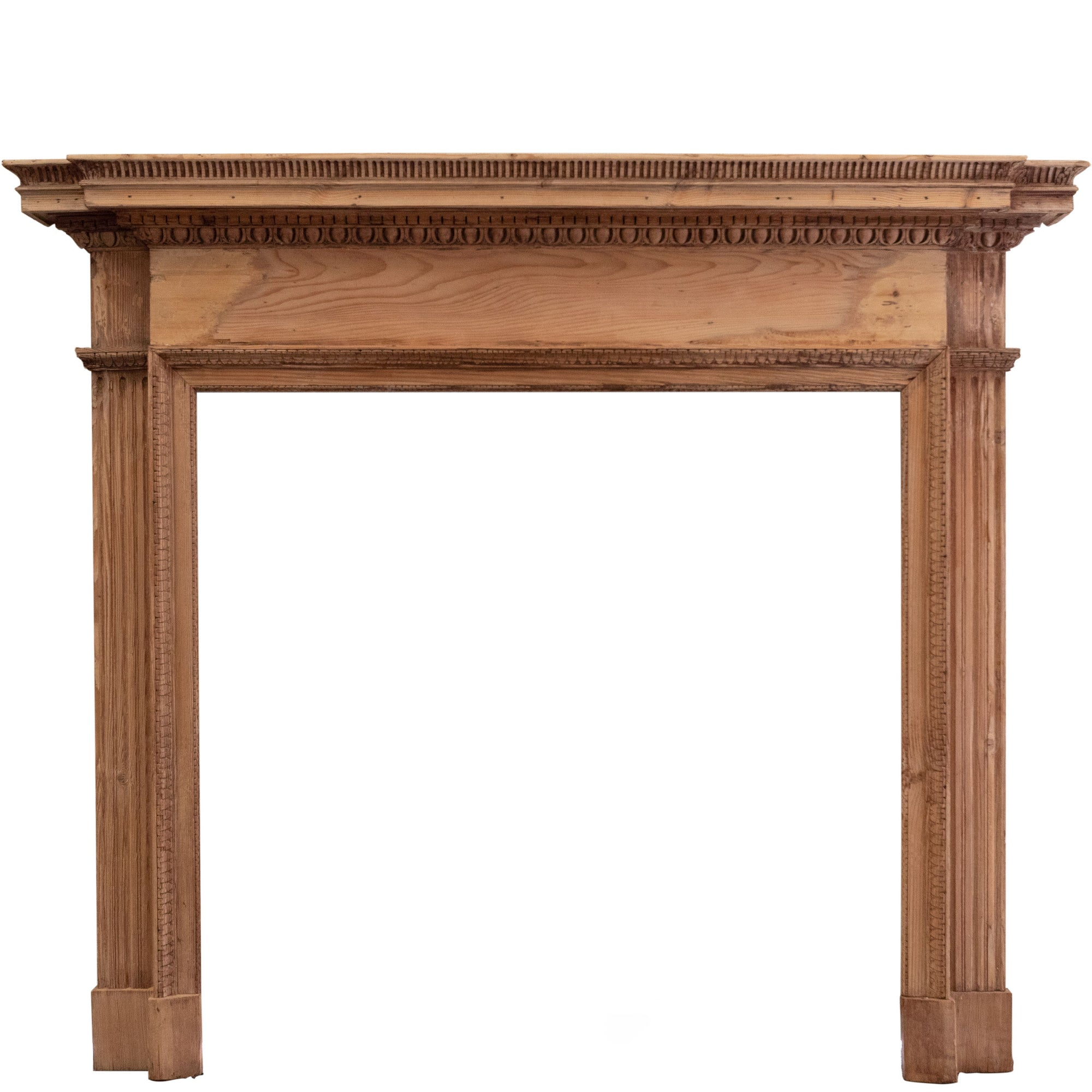 Antique Georgian Pine Fireplace Surround - architectural-forum
