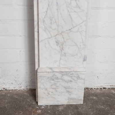 Antique Victorian Pencil Vein Marble Fireplace Surround - architectural-forum