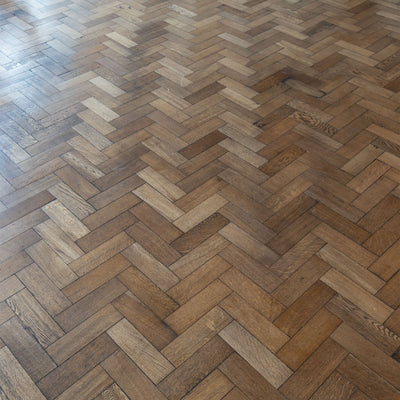 Antique Reclaimed Oak Parquet Flooring 200m² Available - architectural-forum