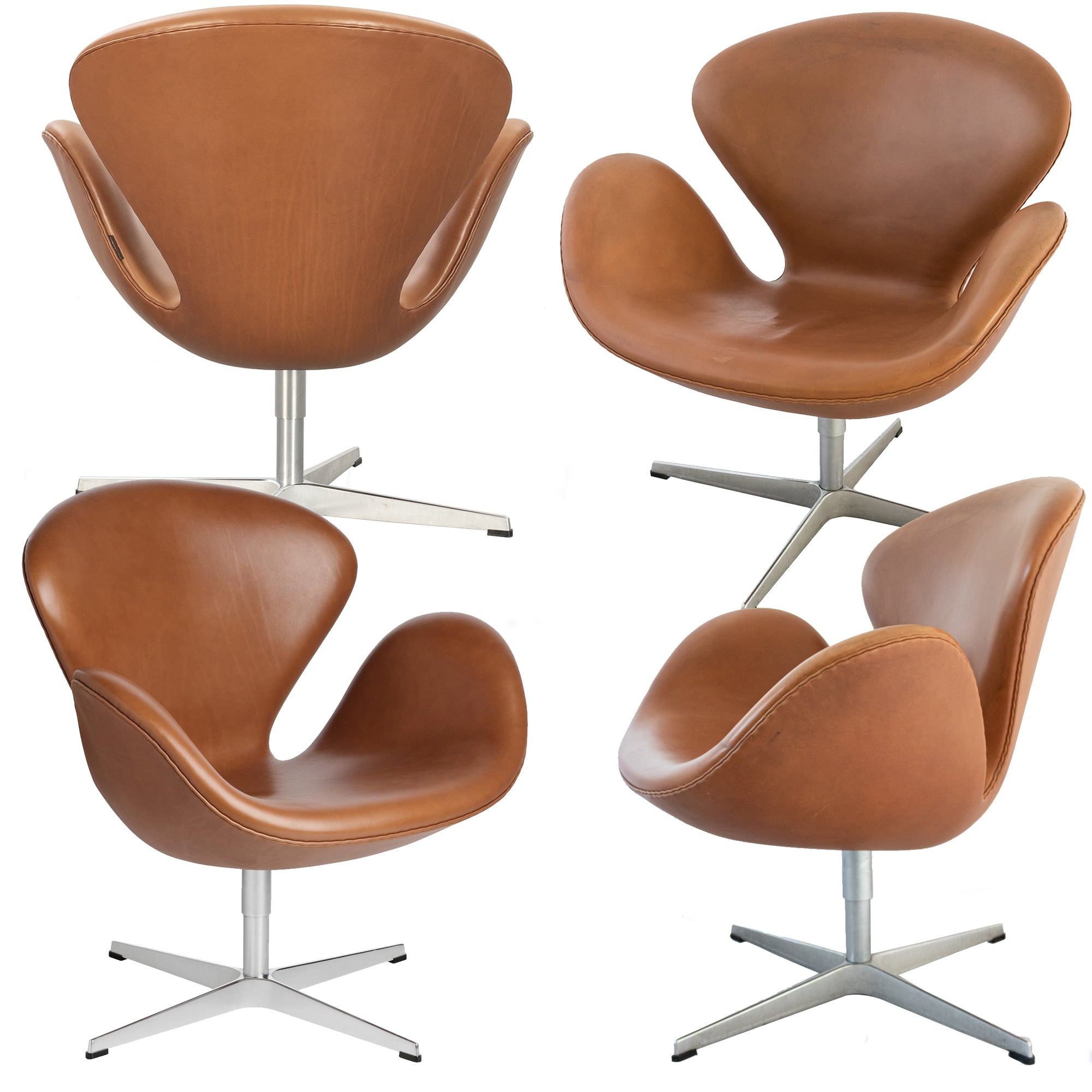 Mid-Century Republic of Fritz Hansen Swan Chairs (sef of 4)