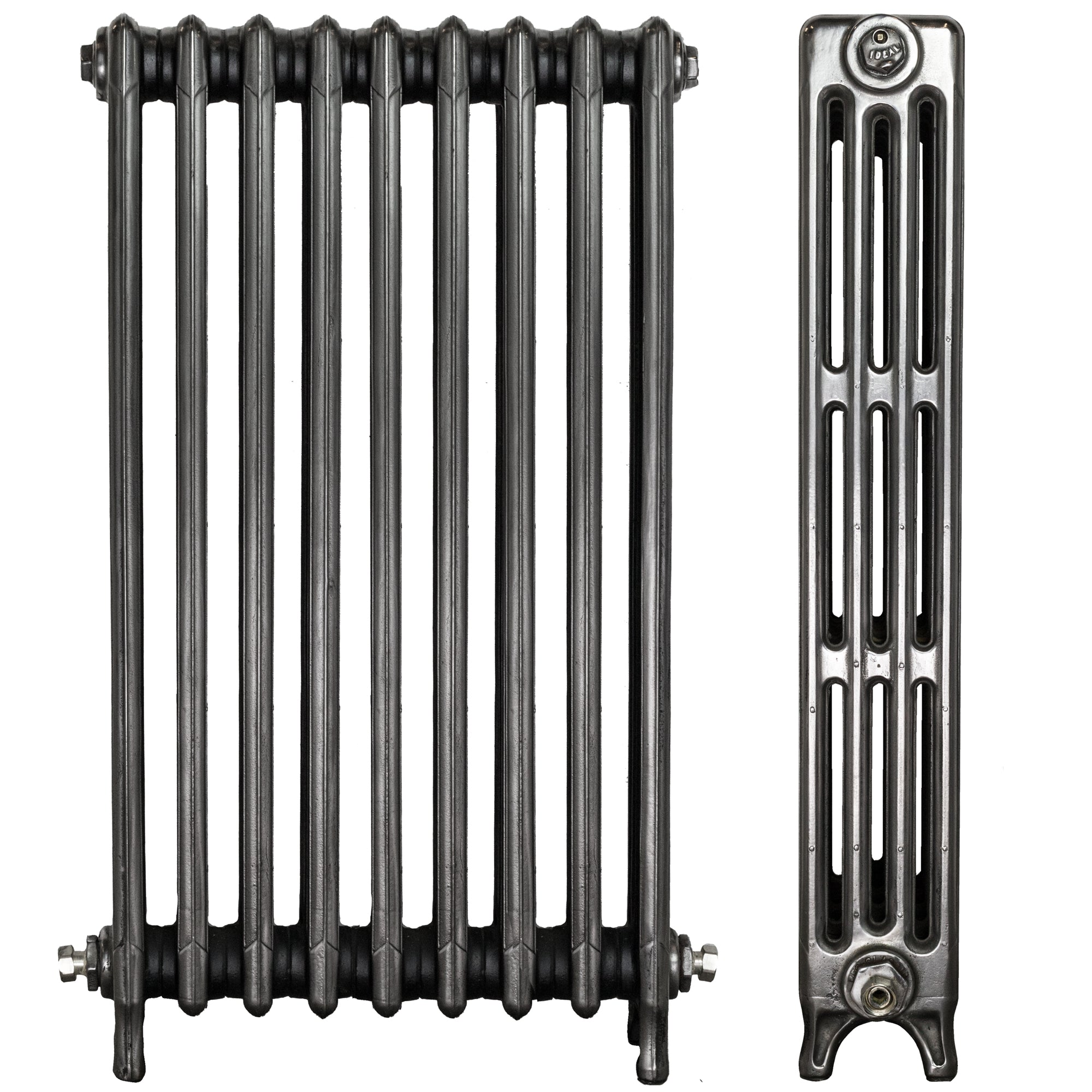Fully Restored Ideal Cast Iron Radiator 4 Column 9 Section (92cm tall)