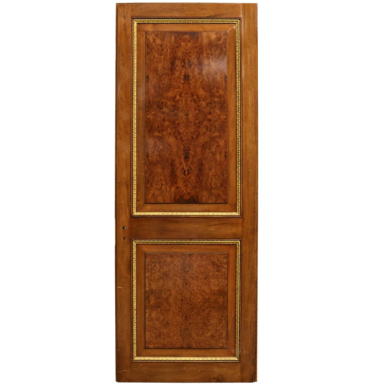 A solid walnut two panel door