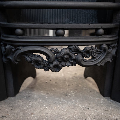 Antique Ornate Georgian Cast Iron Hob Grate - The Architectural Forum