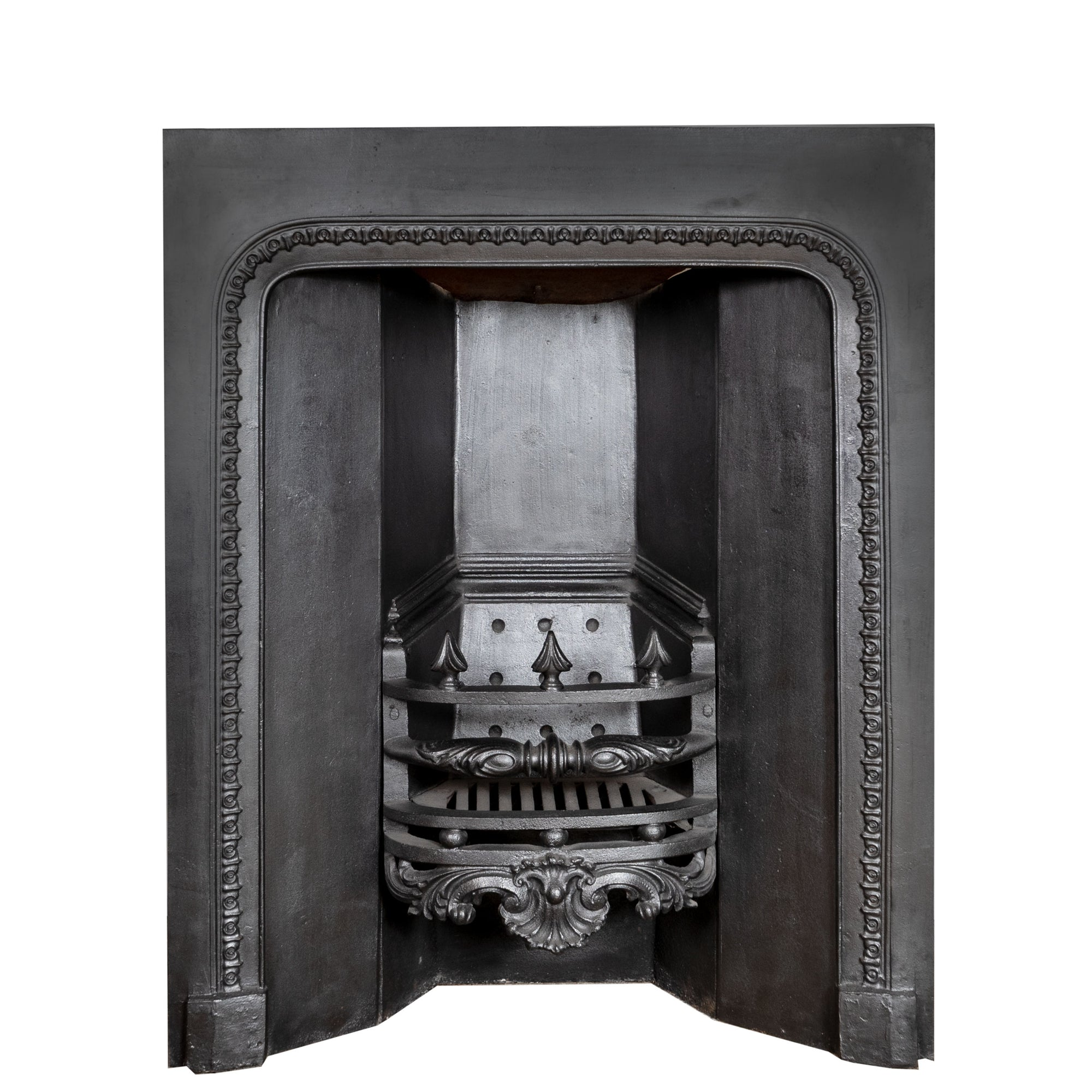 Antique Georgian Cast Iron Fireplace Insert - architectural-forum