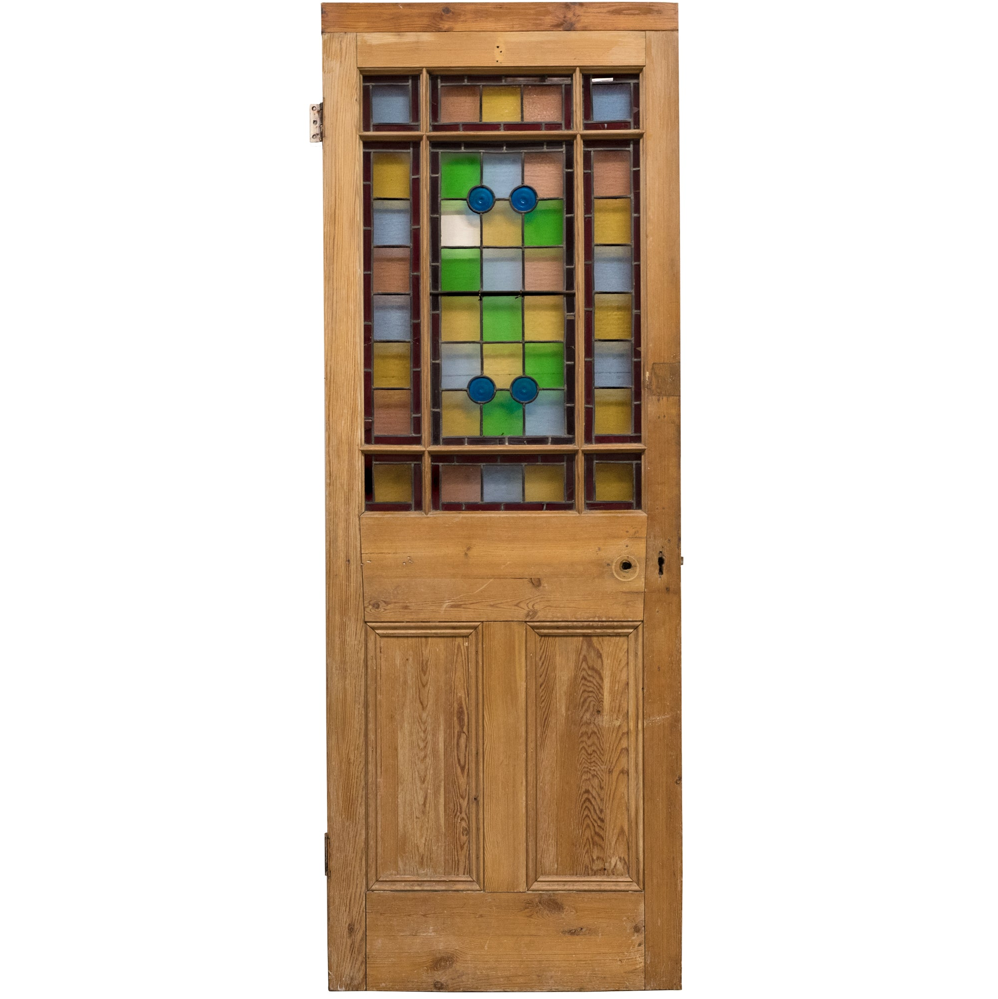 Antique Victorian Stained Glass Glazed Door (195.5cm x 70.5cm) | The Architectural Forum