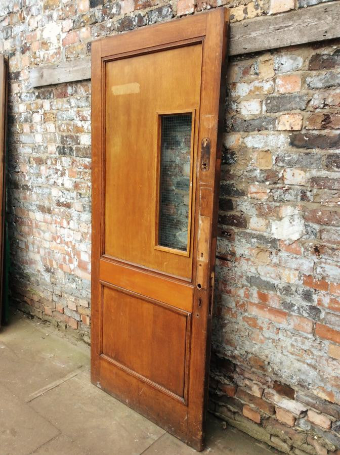 Oak panelled door