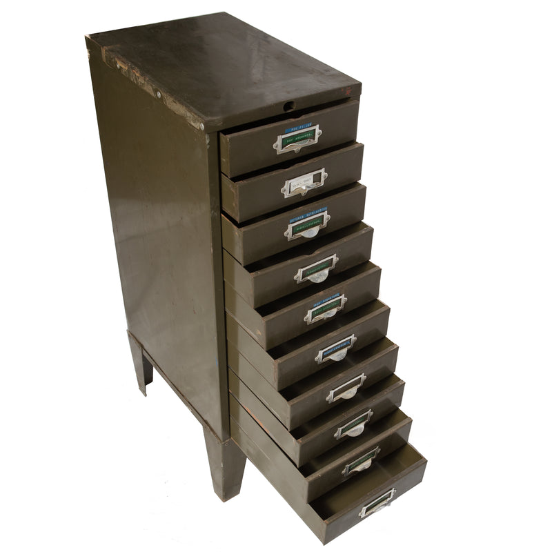 Vintage Industrial Metal Filing Cabinet - architectural-forum