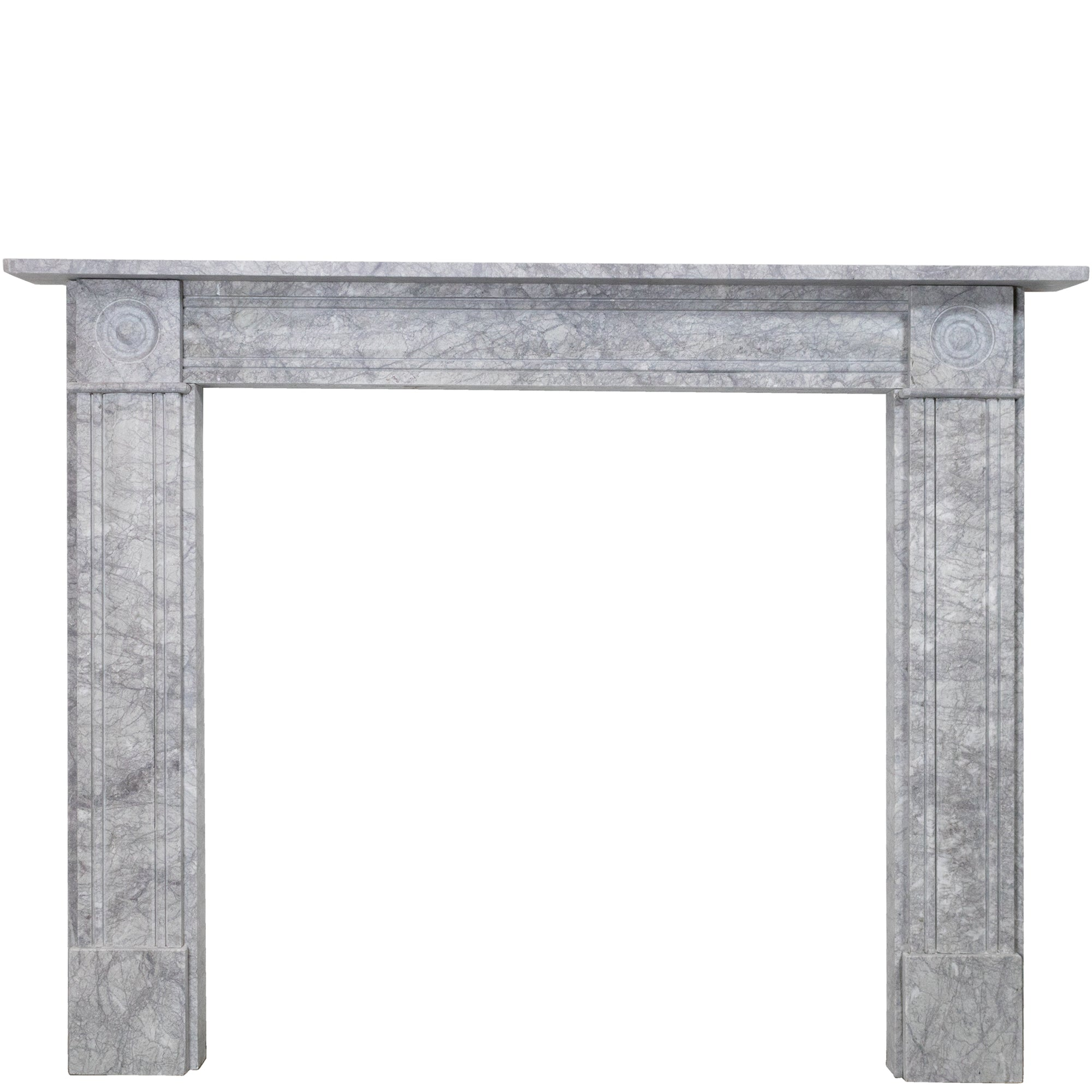 Georgian Style Bullseye Grey Marble Chimneypiece | The Architectural Forum