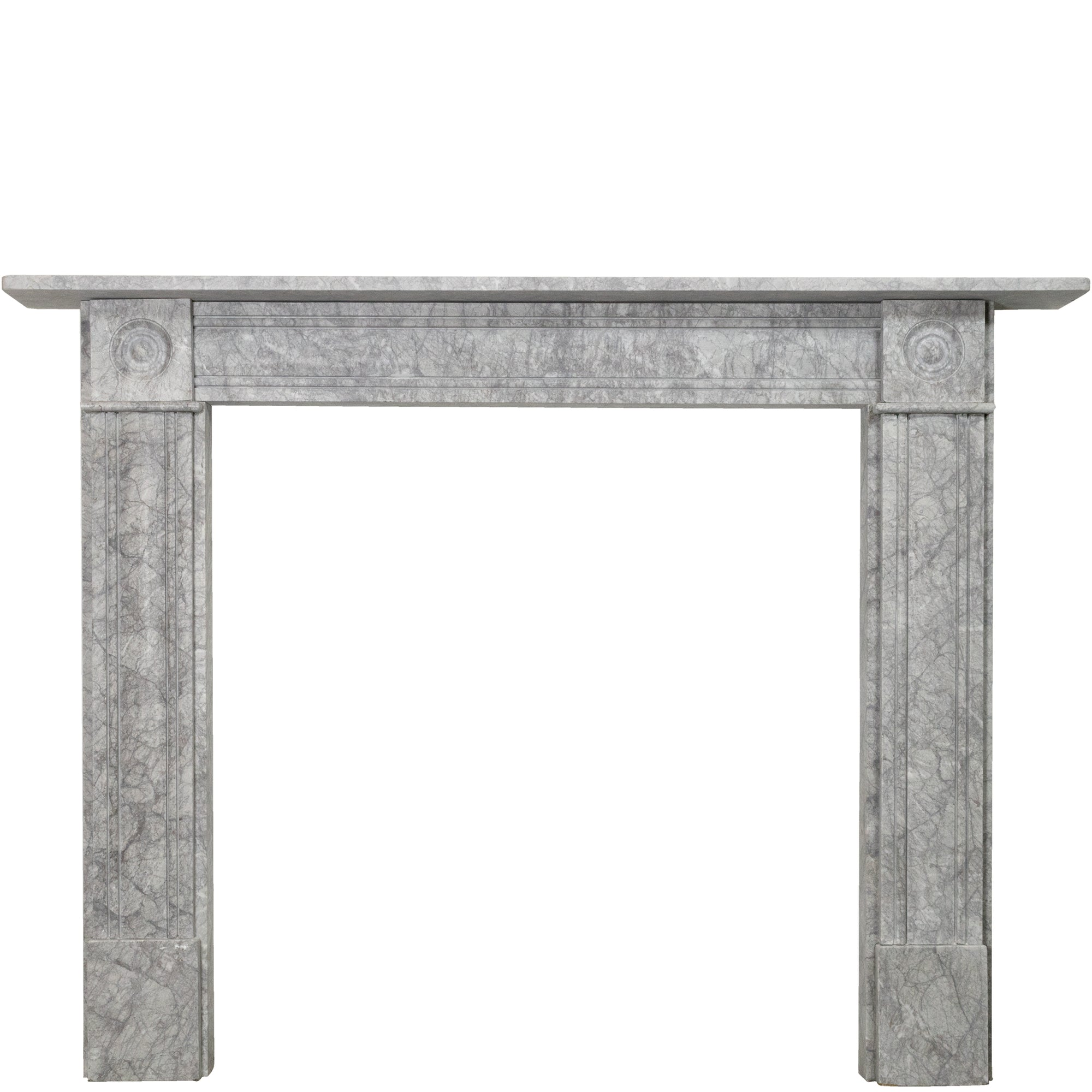 Georgian Style Bullseye Grey Marble Fireplace Surround