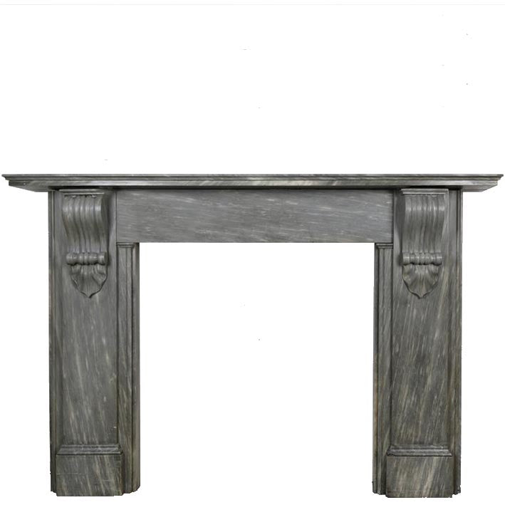 Antique Dove Grey Marble Fireplace Surround - The Architectural Forum