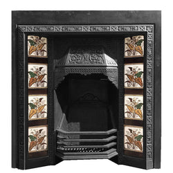 tiled fire insert antique