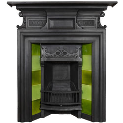 Antique Cast Iron Combination Fireplace