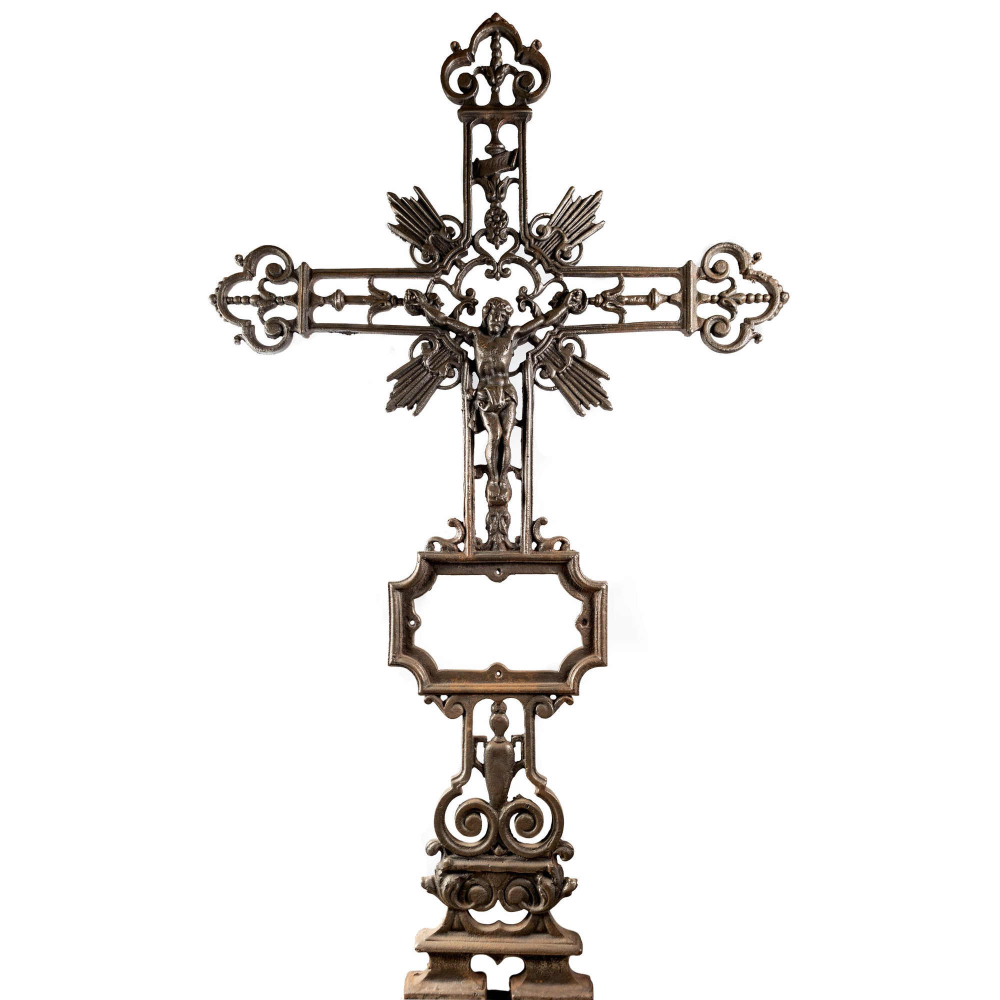 French Cast Iron Crucifixion of Christ