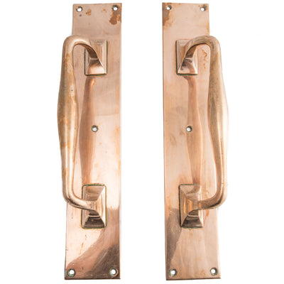 Antique Rose Brass Door Pull Handles - The Architectural Forum