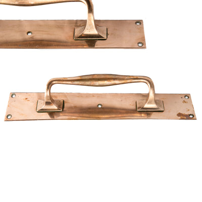 Antique Rose Brass Door Pull Handles - architectural-forum
