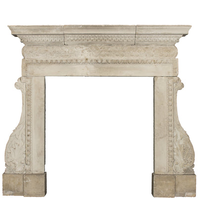 Antique 18th Century Carved Stone Chimneypiece