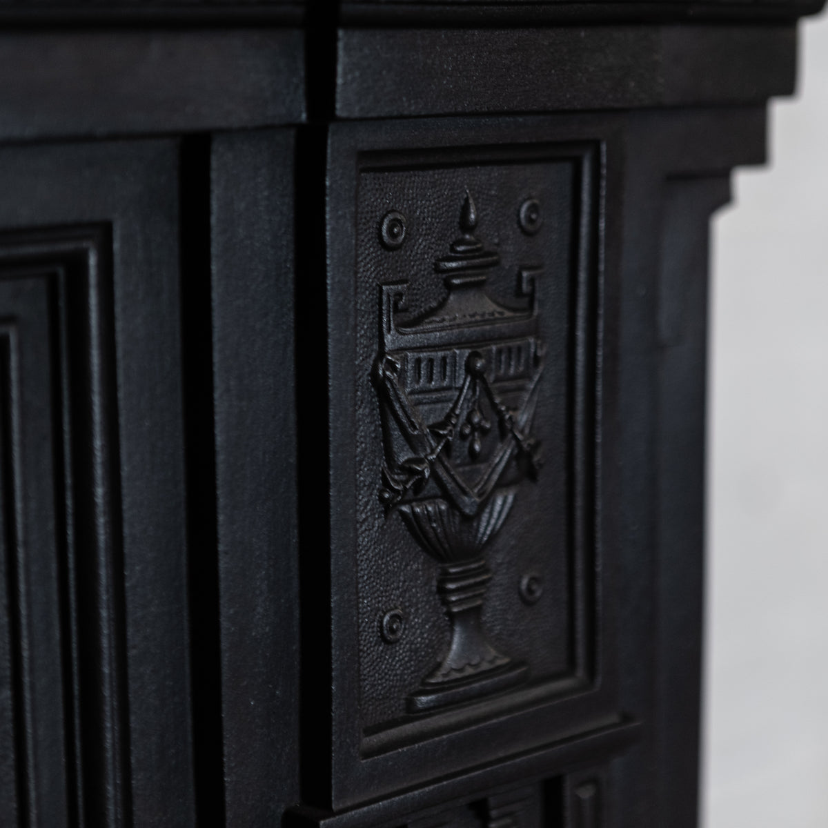 Large Antique Cast Iron Combination Fireplace | The Architectural Forum