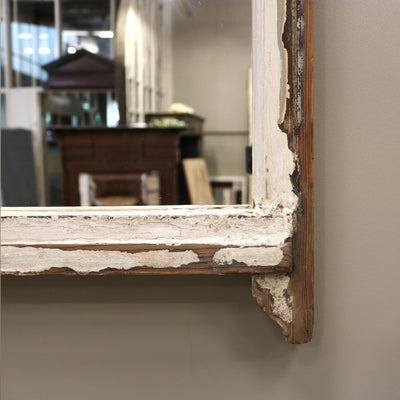 Antique Sash Window Mirror pine