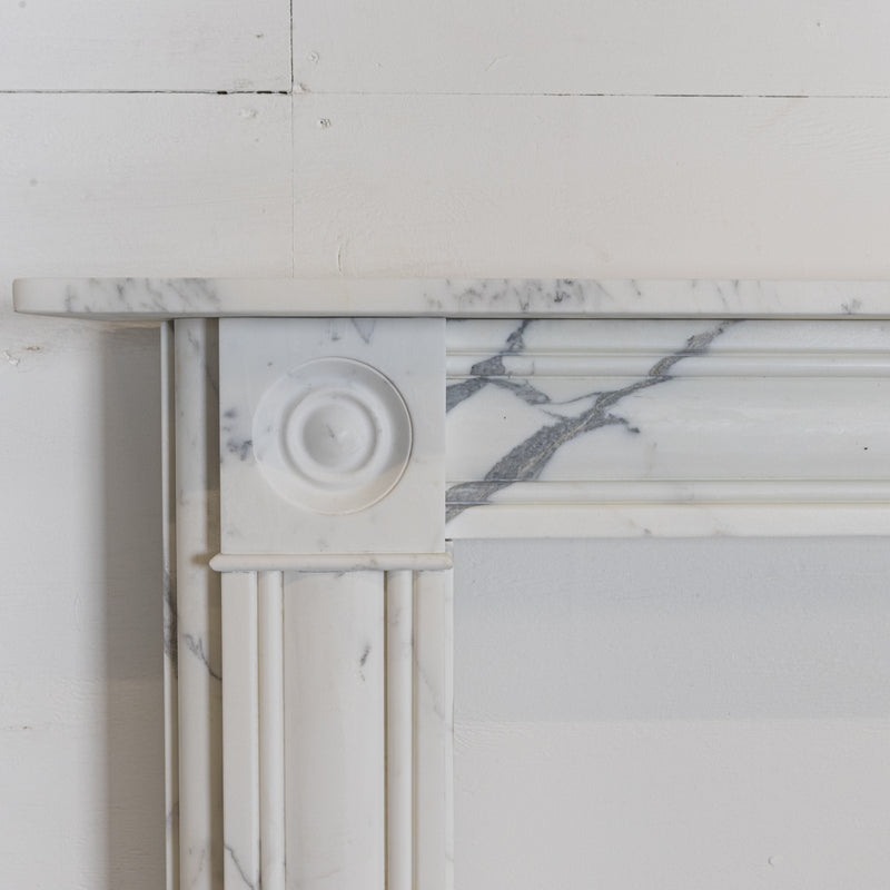 Georgian Style Bullseye Arabesque Marble Chimneypiece