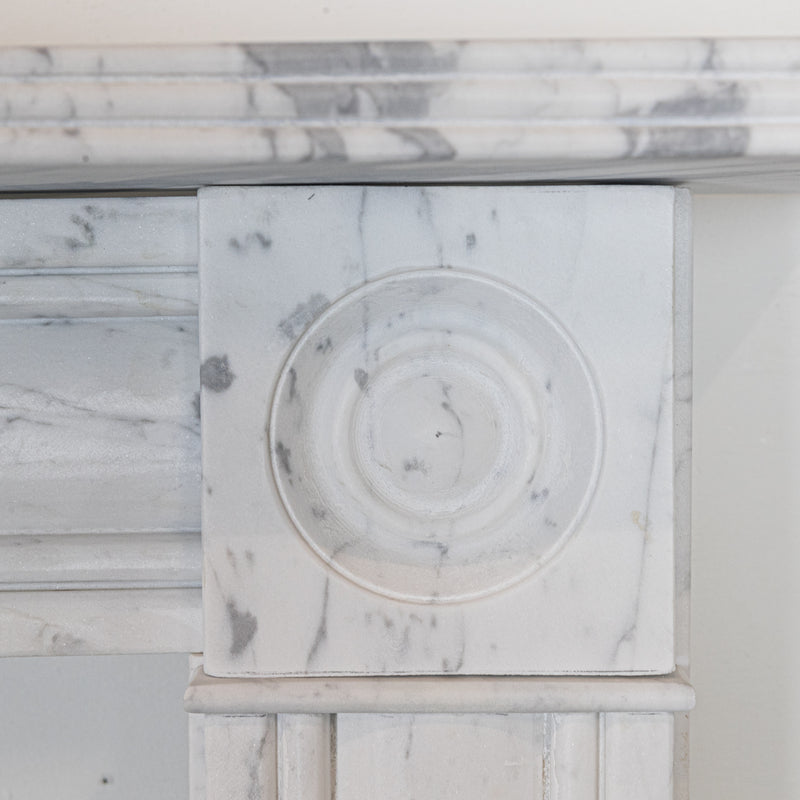 Georgian Style Italian Gioia Marble Fireplace Surround