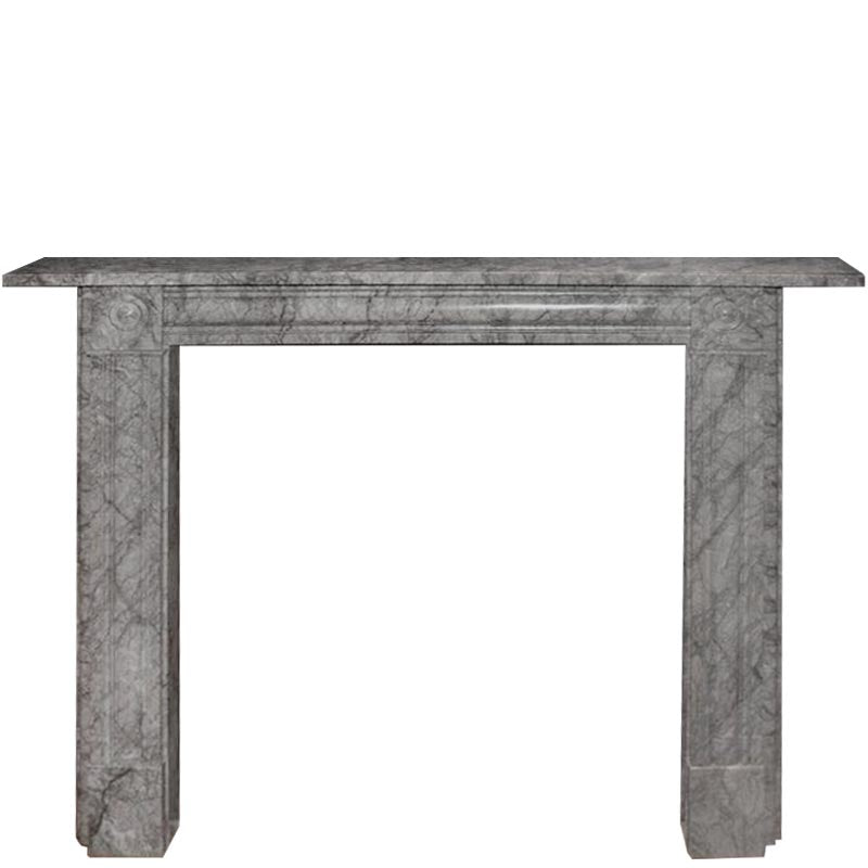 Georgian Style Bullseye Marble Fireplace - The Architectural Forum
