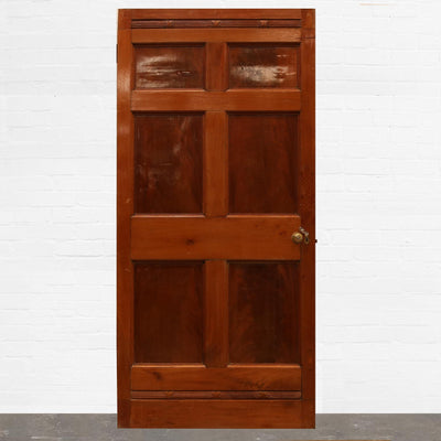 Georgian Flame Mahogany Six Panel Door - 107cm x 226cm - The Architectural Forum