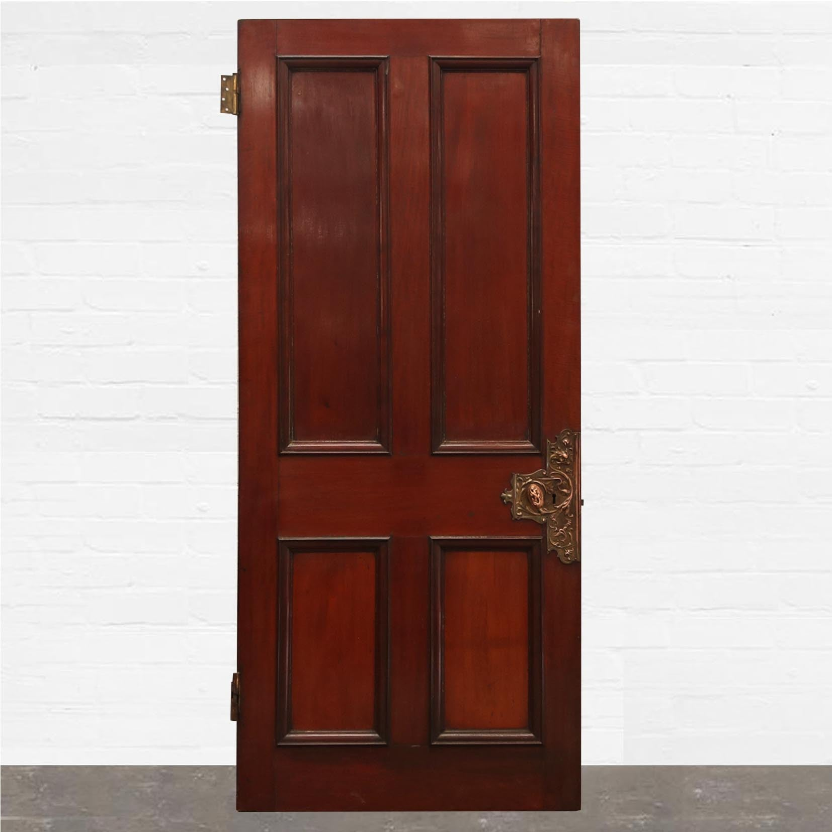 Georgian Flame Mahogany Panelled Door -209cm x 91cm - The Architectural Forum