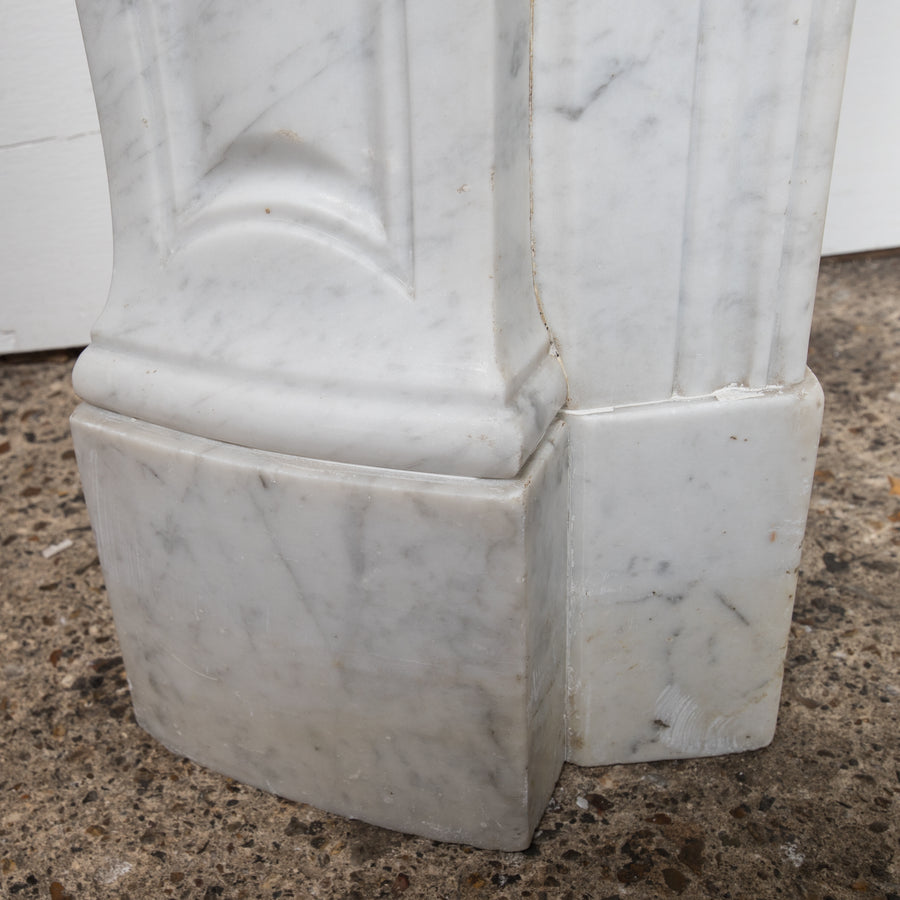Antique Louis Carrara Marble Fireplace Surround